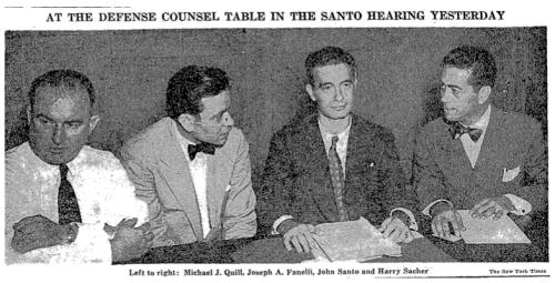 Defense Council Table at Santo Hearing